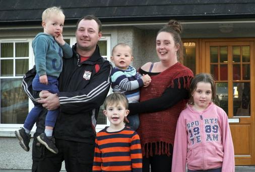 Laura and John McKeever and their four children, Cillian (6), Abi (9), TJ is (2) and baby Owen who is 13 months old