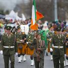 The Defence Forces leading out the New Ross Parade