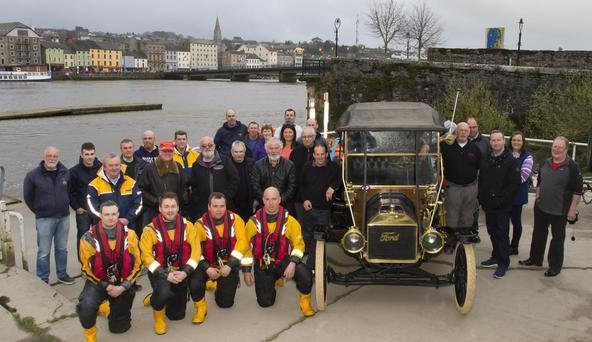 The Wexford Sports and Classic Car Club Spring Challenge and RNLI May Day Yellow Welly appeal being launched at New Ross boat club.