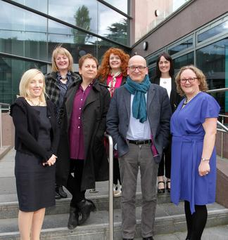Eileen Morrissey, Wexford Library; Marcella Bannon, Anne Enright, Jen Coppinger, Roddy Doyle, Nicola McGrath, Wexford Library and Sinead O'Gorman, Wexford Library