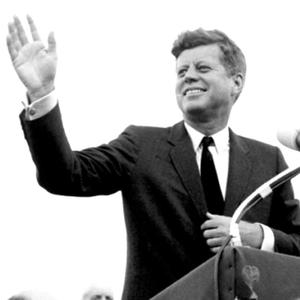 JFK waves to the crowd at New Ross, June 1963