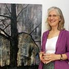 Claudia Roche with her piece