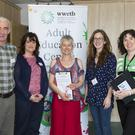 At the New Ross Adult Education centre information and recruitment morning. From left; Brenda Mullins, Don Murphy, Mary Walsh, Miranda Ó'Bolguidhir, Ann McDonnell, Liz Duffy and Rebecca Cummins