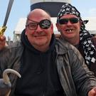Rollo Engler, a trainee pirate and his instructor Captain Hook at the Pirate School at Hook Head