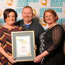 Shane and Siobhan Murphy, Murphy McCaffrey's Centra, Rosslare receive the Q Mark from Irene Collins (right), CEO, EIQA.