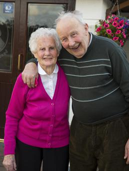 The couple at home in Rathnageeragh, Gusserane, last week