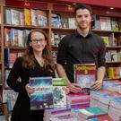 Jamie Saunders and Tony Hennessy in The Book Centre, Wexford