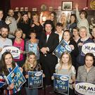 New Ross Musical Society members at the launch of their 50th anniversary show 'Top Hat' in the Three Bullet Gate recently