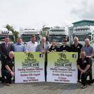 At the launch of the Wexford Truck Run: Cllr Ger Carthy, Seamus Thompson, Garda Niall Murphy, Ciaran Sheridan, Friends of Wexford Hospital, Cllr Jim Moore, Mayor of Wexford, Anna Thompson, Maria Rice, Ricky Breslin, Cllr Frank Staples and Con Morris