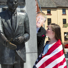 Gemma Sinnott with President Kennedy and President Trump at the launch of the summer school