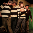 The cast of The Man From Clare on stage in Wexford Arts Centre