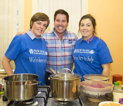 Elaine Guinan, chef Edward Hayden and Stacey O'Conner at New Ross Credit Union