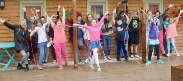 Filmmakers and dancers at The Cabin arts hub and cafe in Marshmeadows