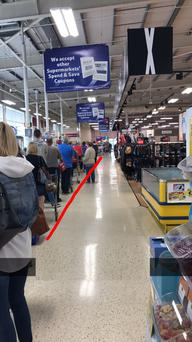 The scene at New Ross Tesco on Friday morning