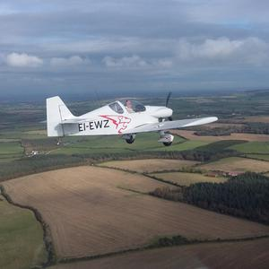 The aircraft flying just south of Taghmon last October. Picture by Peter Tawse of Wexford Flying Club.
