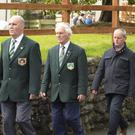 Members of the National Ploughing Association providing a guard of honour at the funeral of Martin Kehoe Jnr