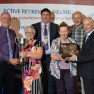 Members of New Ross Active Retired Club who won the Small Bowls Cup