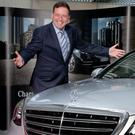 Mercedes-Benz main dealer Richard Murphy of Donohoe Motors, Enniscorthy at last week's launch of the new, S-Class,flagship model of the Mercedes-Benz range