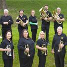 The HFC brass band pictured in New Ross last week