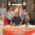 Attendees at the New Ross Labour party AGM in Corcorans pub with leader Brendan Howlin.