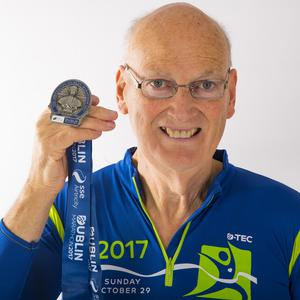 Michael Fottrell with his medal