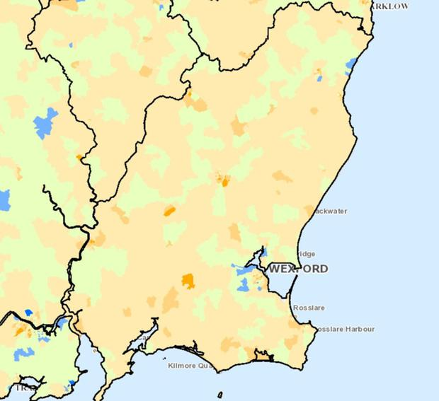 Small Map Of Ireland.Co Wexford S Most Affluent And Deprived Communities Independent Ie