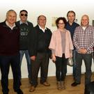 Artists Jim Morrissey, Seán Doyle, Ned Gibbons, Ray O'Brien, Francis Walsh, Eddie Waters and Billy Cardiff with tutor Kate Murphy