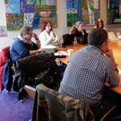 The writers at a recent screen writing workshop in the National Opera House