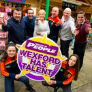 At the launch of the 2018 Wexford Has Talent competition: Cllr George Lawlor, MC; Brian Furlong; Marion Roice; Killian Duignan; Kevin Carty; Philly Cullen; and Ciara and Rachel Furlong