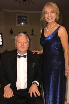 Seán with his wife Lourde in November 2017