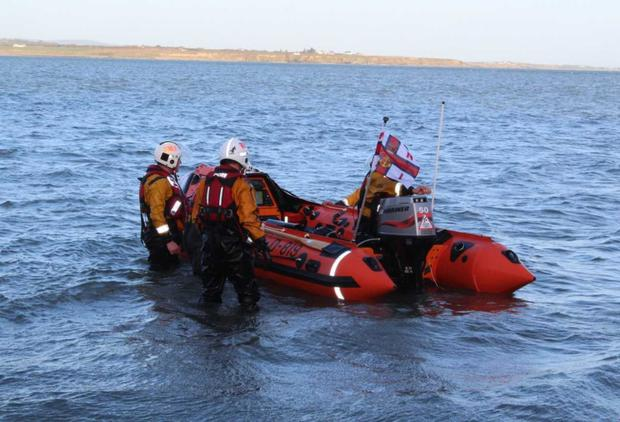 Some Fethard RNLI crews testing out the new St Dubhán lifeboat