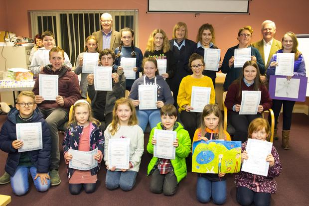 Credit Union art competition winners pictured recently at New Ross Credit Union