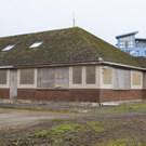 Derelict bungalows at the far entrance of the Stafford's