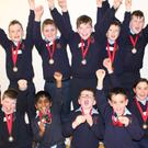 Senior and Junior Bunscoil Ris chess competitors