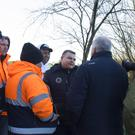O'Leary Transport truck drivers being interviewed by RTÉ's Damien Tiernan during the recent protests