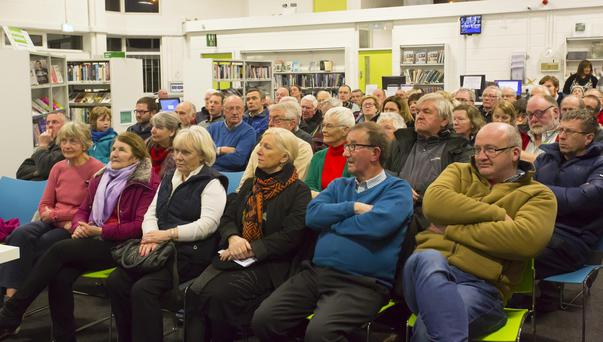 Some of the attendance at the talk in New Ross Library last Tuesday