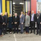 Minister Michael Ring, Minister Michael D'Arcy, councillors and officials at the opening of the new mobile library service in Duncannon