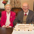 John Doyle from St Mullins celebrating his 100th birthday with his wife Elizabeth (84), brother Larry Doyle (95) from Templeudigan and sister Bridget Doran (92) from Ballymurphy