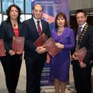At the launch of the plan (from left): Tom Enright CE, Wexford County Council; Liz Burns, Arts Officer; Minister Paul Kehoe; Josepha Madigan, Minister for Culture, Heritage & the Gaeltacht; Cllr John Hegart, chairman Wexford County Council; and Minister Michael D'Arcy