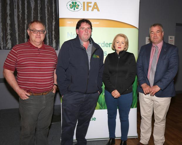 Jer O'Mahony, James Kehoe, Edel Gahan and Tom Short at the IFA's fodder crisis meeting.