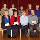 Back row l-r: Catherine White, Village Players, Mary Bullock, Alzheimers Society, Tina Wilkins, Village Players, Margaret White, Alzheimers Society, Gwnneth Crascall, Village Players and Claire Auld, Village Players. Front: Samantha Whelan, Alzheimers Society, Gráinne Ryan, St Louis Day Care Centre, Eileen Finn, producer Village Players, Thomas Stafford, Fethard Village Community Development Association, John Molloy, Village Players