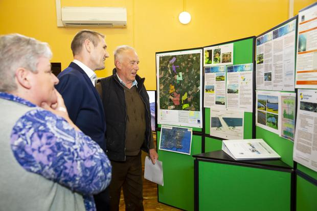 Caroline Foxe from Foulksmills and Eamon O'Rourke from Horetown with Peter Kavanagh from Highfield Solar (centre)
