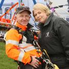Stephen Mullally and Wendy Auld from Irish Coastguards
