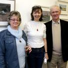 Artist Carmel with her parents Ann and Ned Fenlon