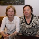Peggy Foley and Margaret Kehoe at the recent fundraiser in the Ash Tree pub in Ballywilliam.