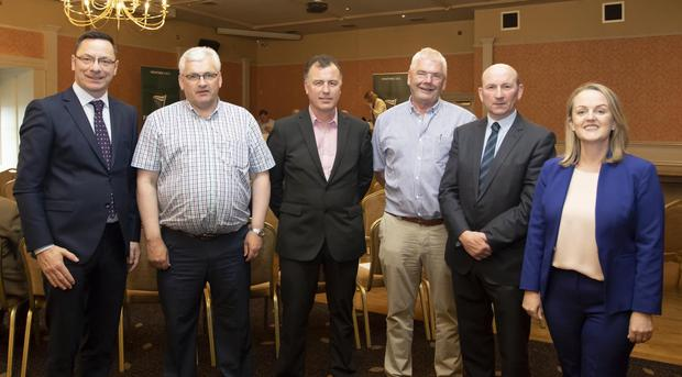 At the meeting in the Horse and Hound: Cllr Michael Sheehan, Cllr Jim O'Sullivan, Cllr Michael Whelan, Cllr Pip Breen, Cllr John Fleming and Cllr Lisa McDonald
