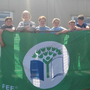 St Canice's pupils with the Green School flag