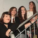 Student artists Hollie Davis, Tara Power, Ciara Aherne and Aoife O'Callaghan