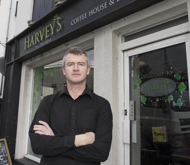 Emmet Ronan pictured outside Harvey's Coffee House & Bistro