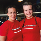 Teenager Sarah Meehan along with her mother Mary did a parachute jump for charity